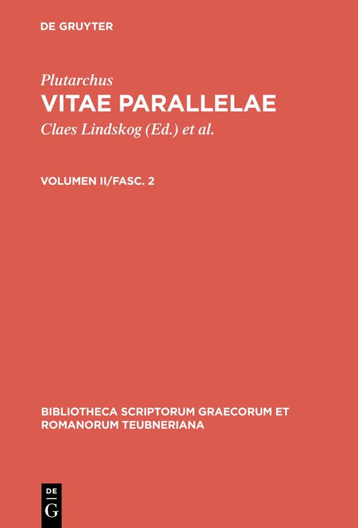 Abbildung von Lindskog / Ziegler / Gärtner   Vitae parallelae   3rd updated and enl. ed.   1994