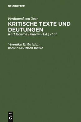 Abbildung von Kribs | Leutnant Burda | 1996