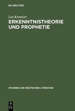 Abbildung von Kreutzer   Erkenntnistheorie und Prophetie   1966   Hermann Brochs Romantrilogie