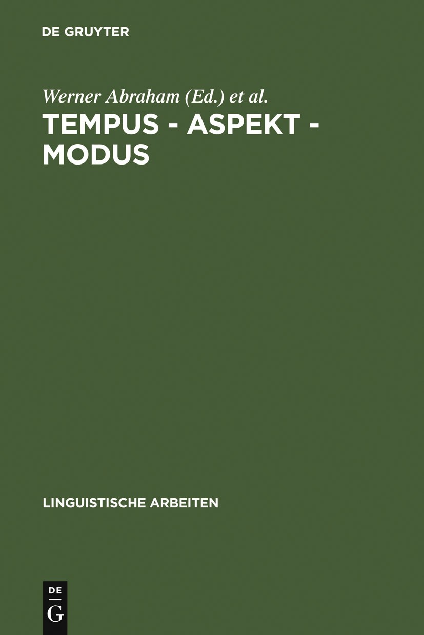 Tempus – Aspekt – Modus | Abraham / Janssen, 1989 | Buch (Cover)