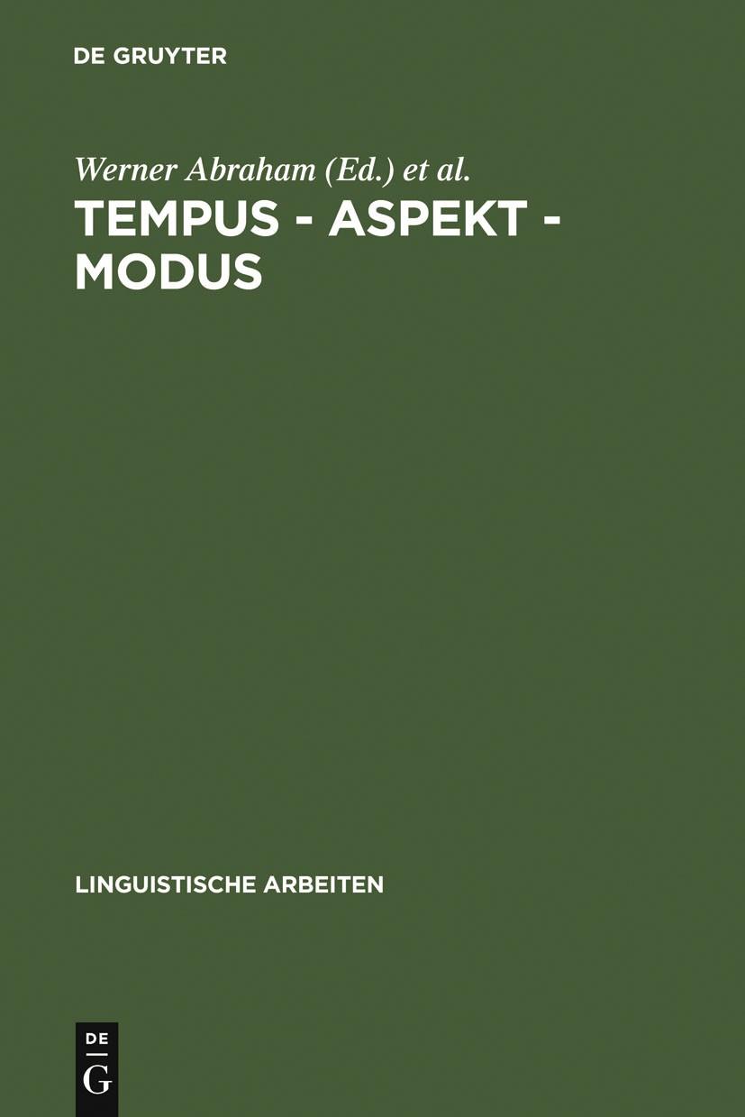 Abbildung von Abraham / Janssen | Tempus – Aspekt – Modus | 1989