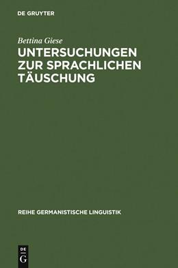 Abbildung von Giese | Untersuchungen zur sprachlichen Täuschung | 1992
