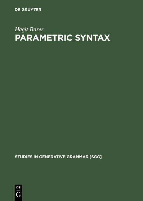 Parametric Syntax | Borer | Reprint 2014, 1984 | Buch (Cover)