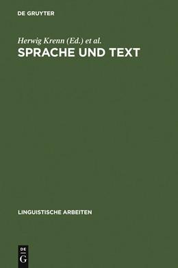 Abbildung von Krenn / Niemeyer / Eberhardt | Sprache und Text | 1984 | Akten des 18. Lingustischen Ko... | 145