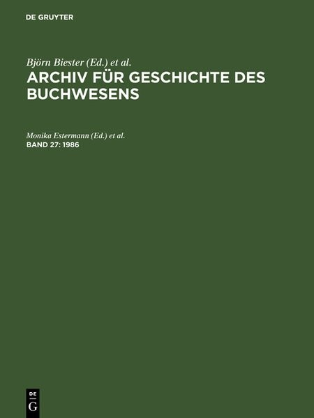1986 | Reprint 2017, 1986 | Buch (Cover)