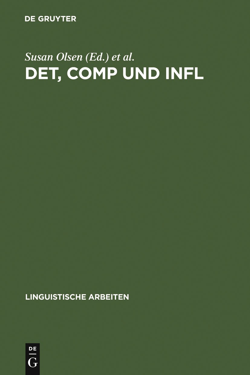 DET, COMP und INFL | Olsen / Fanselow, 1991 | Buch (Cover)