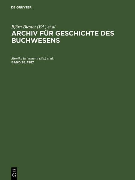 1987 | Estermann / Wittmann / Kleiss | Reprint 2017, 1986 | Buch (Cover)