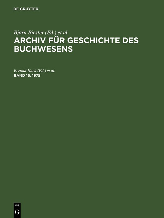 1975, 1975 | Buch (Cover)