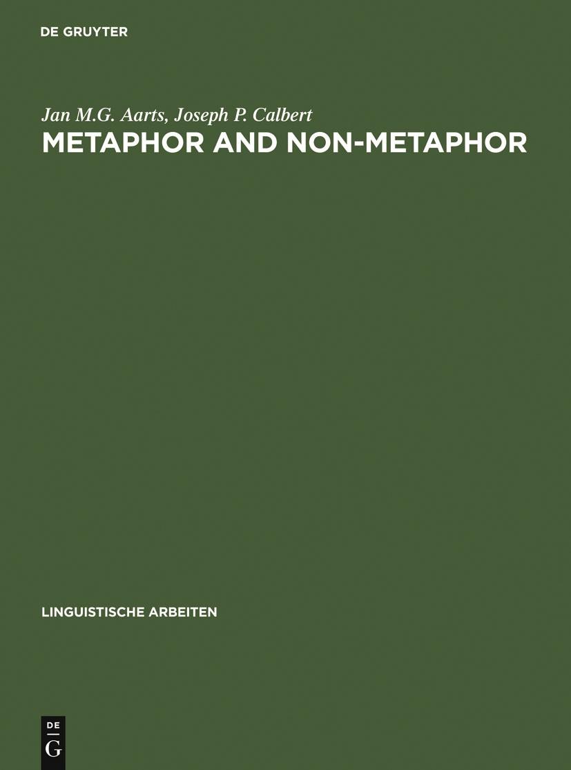 Metaphor and Non-metaphor | Aarts / Calbert, 1979 | Buch (Cover)