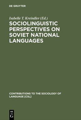 Abbildung von Kreindler | Sociolinguistic Perspectives on Soviet National Languages | Reprint 2015 | 1985 | Their Past, Present and Future | 40