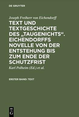 Abbildung von Polheim | Text und Textgeschichte des