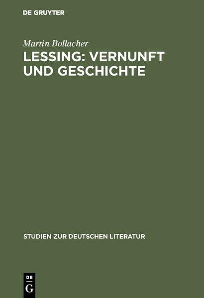 Lessing: Vernunft und Geschichte | Bollacher, 1978 | Buch (Cover)