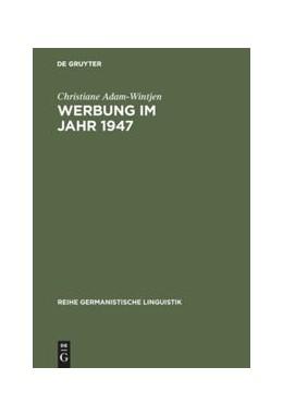 Abbildung von Adam-Wintjen | Werbung im Jahr 1947 | 1998 | Zur Sprache der Anzeigen in Ze... | 197