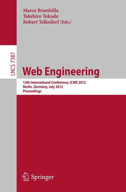 Web Engineering | Brambilla / Tokuda / Tolksdorf, 2012 | Buch (Cover)