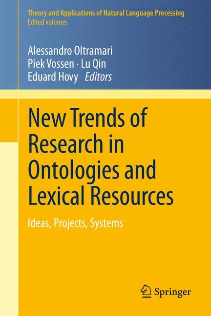 New Trends of Research in Ontologies and Lexical Resources | Oltramari / Vossen / Qin / Hovy, 2013 | Buch (Cover)