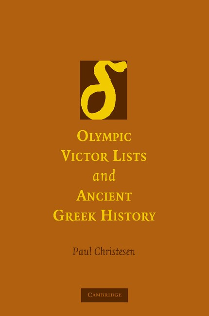 Abbildung von Christesen | Olympic Victor Lists and Ancient Greek History | 2012