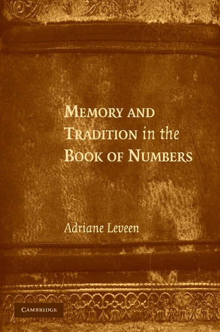 Abbildung von Leveen | Memory and Tradition in the Book of Numbers | 2012