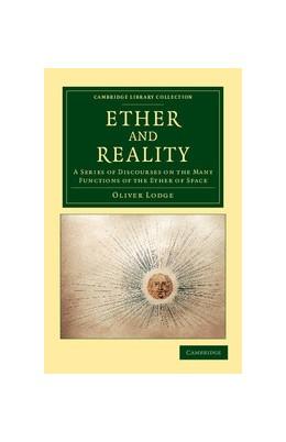 Abbildung von Lodge | Ether and Reality | 2012
