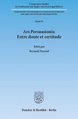 Abbildung von Durand   Ars Persuasionis: Entre doute et certitude   1. Auflage 2012   2012   30