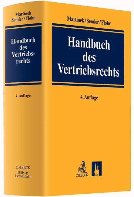 Handbuch des Vertriebsrechts | Martinek / Semler / Flohr | Buch (Cover)