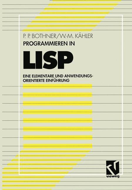 Programmieren in LISP | Bothner / Kähler, 1993 | Buch (Cover)