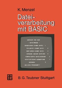 Abbildung von Menzel | Dateiverarbeitung mit BASIC | 1. Auflage | 1983 | beck-shop.de