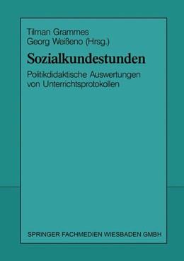Abbildung von Grammes / Weißeno | Sozialkundestunden | 1993 | 1993 | Politikdidaktische Auswertunge...