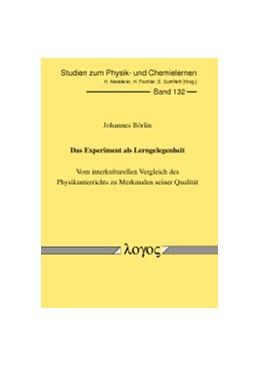 Abbildung von Börlin   Das Experiment als Lerngelegenheit   2012   Vom interkulturellen Vergleich...   132