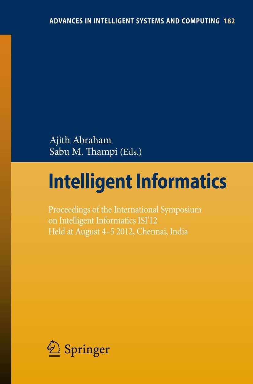 Abbildung von Abraham / Thampi | Intelligent Informatics | 2012