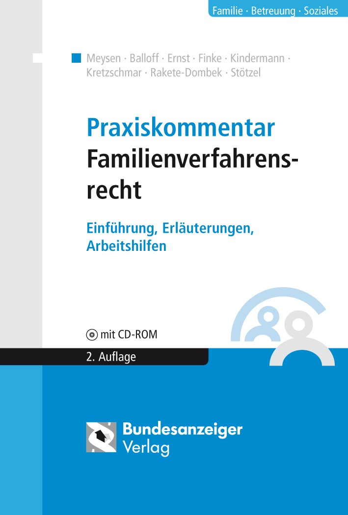 Praxiskommentar Familienverfahrensrecht | Meysen / Balloff / Ernst u.a. | Buch (Cover)