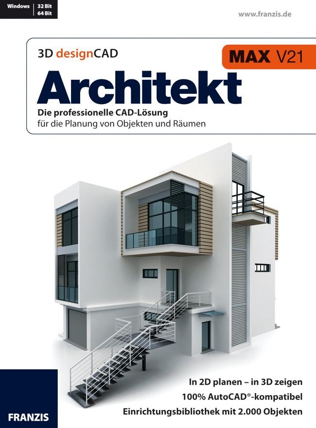3D designCAD Architekt MAX V21, 2012 (Cover)