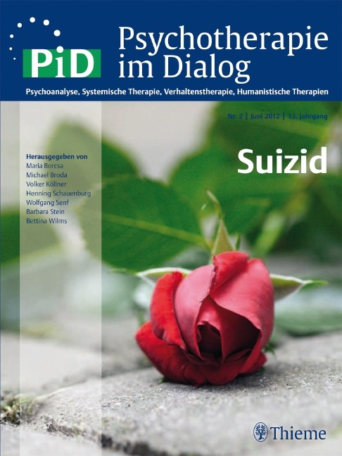 Psychotherapie im Dialog - Suizid | Borcsa / Wilms, 2012 | Buch (Cover)