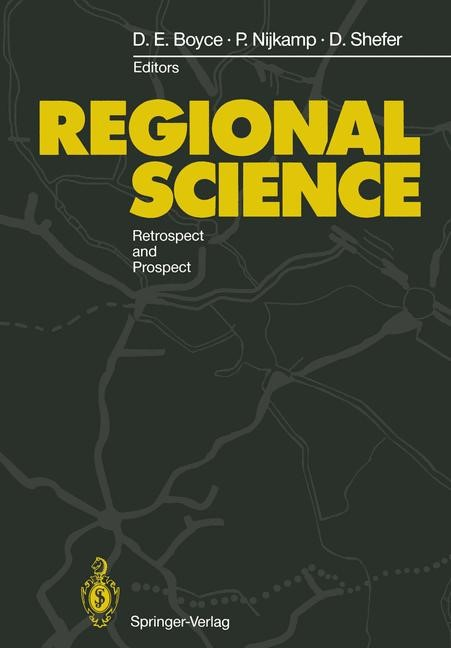 Regional Science | Boyce / Nijkamp / Shefer, 2011 | Buch (Cover)