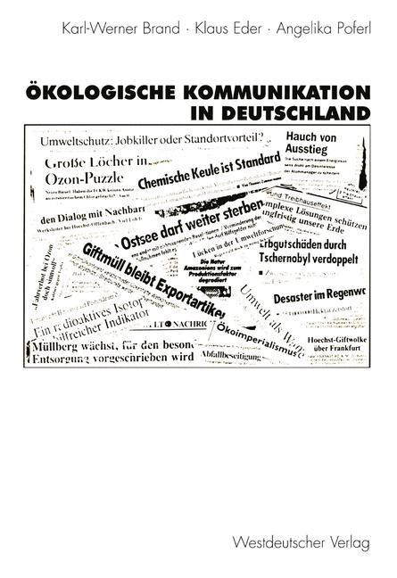 Ökologische Kommunikation in Deutschland | Brand / Eder / Poferl, 1997 | Buch (Cover)