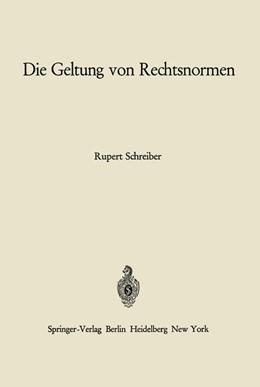 Abbildung von Schreiber   Die Geltung von Rechtsnormen   1966