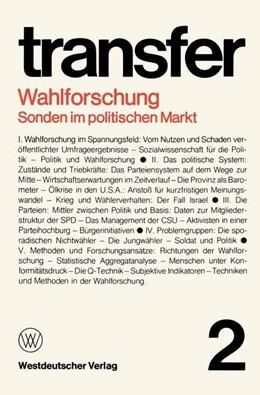 Abbildung von Böhret / Brewer / Brunner   Wahlforschung: Sonden im politischen Markt   1977