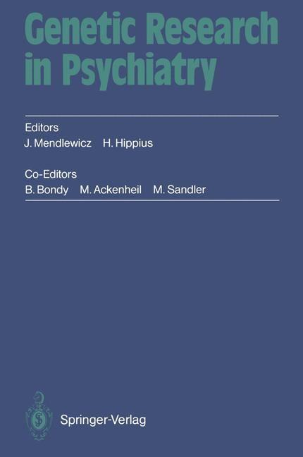 Abbildung von Mendlewicz / Hippius | Genetic Research in Psychiatry | 2012