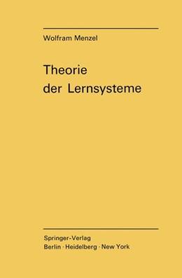 Abbildung von Menzel | Theorie der Lernsysteme | 1970