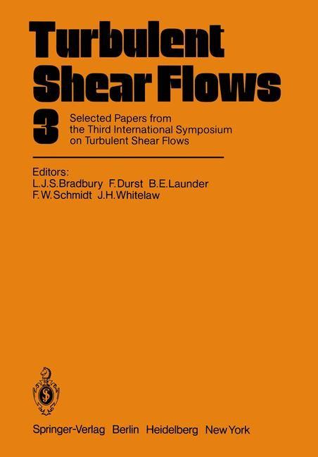 Abbildung von Bradbury / Durst / Launder / Schmidt / Whitelaw | Turbulent Shear Flows 3 | 2012