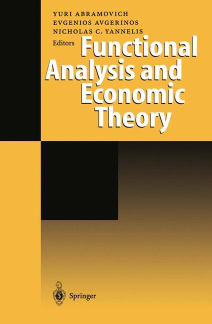 Functional Analysis and Economic Theory | Abramovich / Avgerinos / Yannelis, 2012 | Buch (Cover)