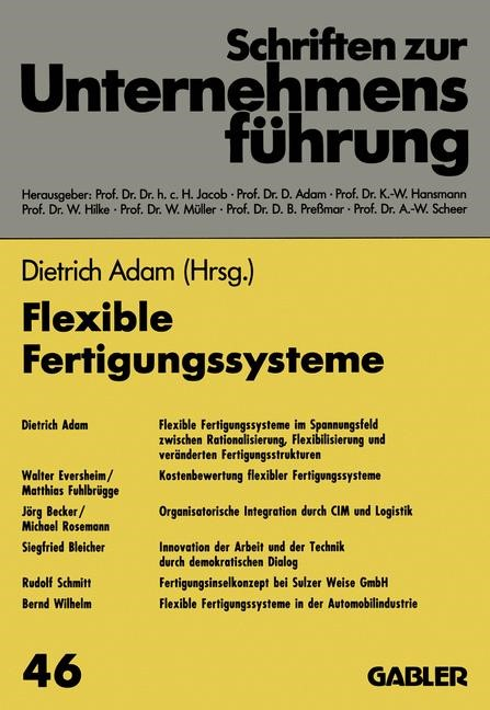 Flexible Fertigungssysteme | Adam | 1993, 1993 | Buch (Cover)