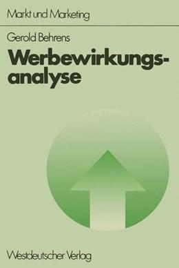 Abbildung von Behrens | Werbewirkungsanalyse | 1. Auflage | 1976 | beck-shop.de