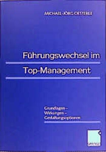 Führungswechsel im Top-Management | Oesterle | 1999, 1999 | Buch (Cover)