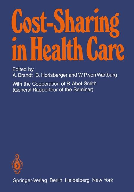 Cost-Sharing in Health Care | Brandt / Horisberger / Wartburg, 1980 | Buch (Cover)