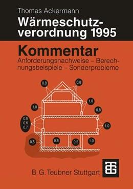 Abbildung von Ackermann | Kommentar zur Wärmeschutzverordnung 1995 | 1995 | Anforderungsnachweise — Berech...
