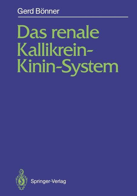 Abbildung von Bönner | Das renale Kallikrein-Kinin-System | 2012