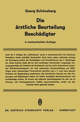 Abbildung von Schöneberg | Die Ärztliche Beurteilung Beschädigter | 2012
