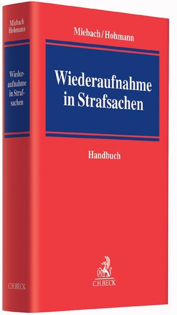 Abbildung von Miebach / Hohmann   Wiederaufnahme in Strafsachen   2016