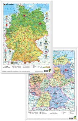 Abbildung von Deutschland physisch/politisch. DUO-Schreibunterlage klein | 1. Auflage | 2015 | beck-shop.de