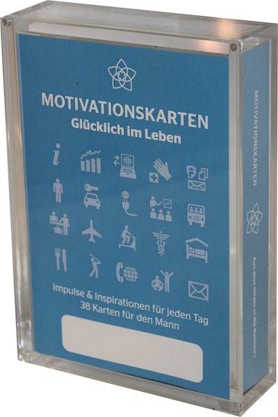 Glücklich im Leben - Motivationskartenset für Männer als positive Impulsgeber zur Selbstfindung und Inspiration | Homolac / Bruckner, 2012 (Cover)